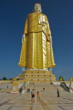 31 story tall Buddha in Monywa, Myanmar. #myanmar