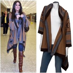 Twelfth Street By Cynthia Vincent Navajo sweater Brand new never worn bought from Intermix Boutique. As seen on The gorgeous Khole Kardashian  Price tag still attached. Size Large beautiful Camel and Heather Grey color. The exact same sweater that is pictured on Khloe Kardashian Twelfth Street by Cynthia Vincent Sweaters