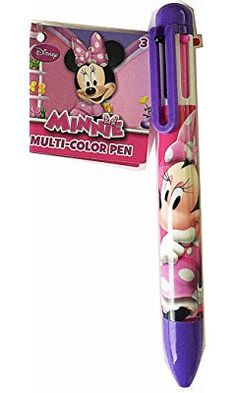 Disney Minnie Mouse 6 Color in One Multi-color Ballpoint Pen (Purple)