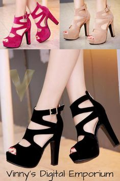 High heels platform shoes are popular all around the world and have been for dec. Ankle Strap Shoes, Shoes Heels, Chic Choc, Frauen In High Heels, Thick Heels, Womens High Heels, Platform Shoes, Fashion Shoes, Womens Fashion