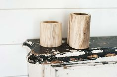 Log Vase | The Magnolia Market $15  Make DIY version from real birch?