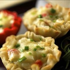 Baby Brie Crab Appetizer on BigOven: This is a wonderful appetizer!  It's easy to make and delicious.  Warm creamy baby brie with crab in a crispy tartlet. YUM!