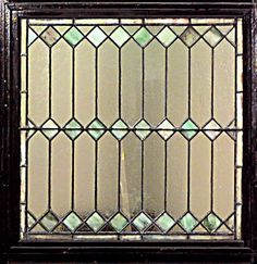 5 American Victorian stained glass diamond shaped square widow panels (PRICED EA