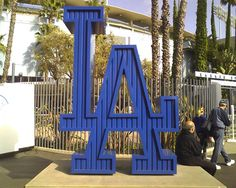 LA Dodgers sign @ Dodger Stadium