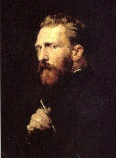 Another portrait of Vincent Van Gogh in Paris by his friend the Australian painter John Peter Russell. Imagine him as your room mate.