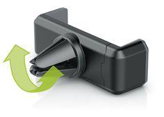 fixxo Universal KFZ-Handyhalter, Funktions-Illustration der Haltekralle für schmale und breite Lüftungslamellen