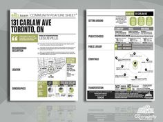 The Community Feature Sheet® for Real Estate Marketing and Realtors Real Estate Marketing, Home Buying, Open House, Infographics, The Neighbourhood, Community, Houses, Header