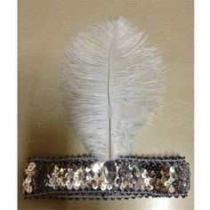 Fahison Paillette Sequin Ostrich Feather Headwear Hair Band Headband Carnival Silver -- Read more  at the image link.