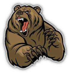 Photo about Vector of grizzly bear mascot. Illustration of fang, illustration, s… Photo about Vector of grizzly bear mascot. Bear Face Drawing, Grizzly Bear Drawing, Angry Bear, Angry Animals, Ours Grizzly, Logo Esport, Art D'ours, Bear Claw Tattoo, Bear Vector