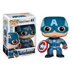 Cabezón Capitán América y el soldado del invierno. Capitán América, Funko POP Marvel Cabezón del capitán América basado en la imagen del personaje tal y como aparece en la película Capitán América y el soldado del invierno.