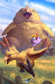 FFVII - Chocobo Summon., John Silva on ArtStation at http://www.artstation.com/artwork/ffvii-chocobo-summon