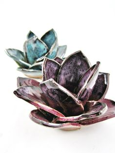 Pottery incense burners, handmade flower incense burners, incense holder, yoga decor, home decor - In stock ****IN STOCK and ready to ship ****