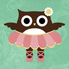 ポスター / Owl Ballerina by Nancy Lee
