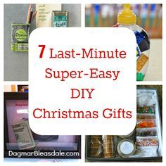 Last-minute, easy DIY Christmas gifts and crafts! Dagmar's Home, DagmarBleasdale #DIY #gifts #Christmas #birthday