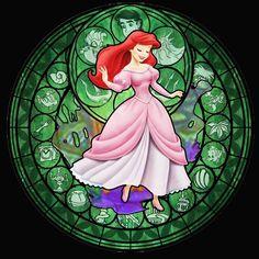 Ariel Stained Glass - Disney Princess Fan Art (31394793) - Fanpop ...