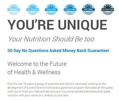 You're Unique and your nutrition should be too! www.tukco.idlife.com