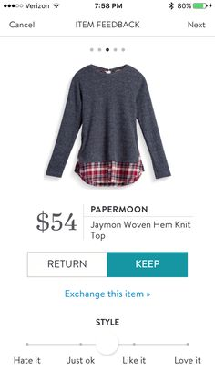 Very cute! Looks perfect for fall or winter! PLEASE SEND, PLEASE SEND! Love the look of 2 tops , but the weight of just 1- perfect!!! Love the dark gray with red flannel look!
