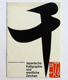 Japanische Kalligraphie und westliche Zeichen catalogue designed by Emil Ruder (1956). http://wiedler.ch/felix/books/story/716