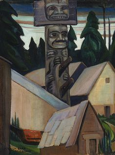 Skidegate , 1928  oil on canvas by Emily Carr