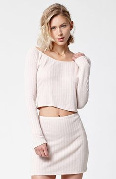 Hooked on Killa Ribbed Cropped Sweater Top that I found on the PacSun App