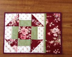 Mug rug pattern snack mat placemat CHURN DASH