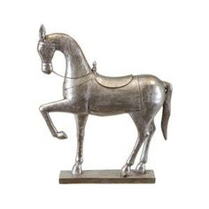Resin Horse Statue in Silver | Nebraska Furniture Mart(175)