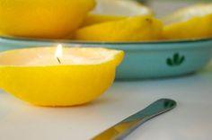 Homemade lemon candles!