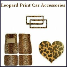 Leopard Print Car Accessories On Pinterest License Plate