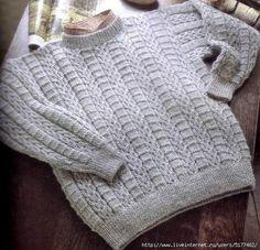 Мужской пуловер спицами. Обсуждение на LiveInternet - Российский Сервис Онлайн-Дневников