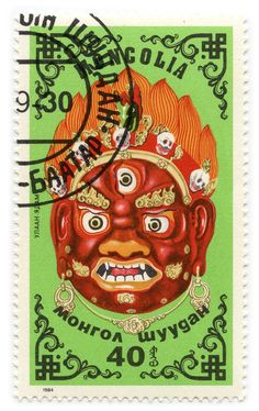 Buddhist stamp, Mongolia