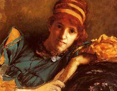 "eatingbreadandhoney: ""  Portrait Of Miss Laura Theresa Epps by Sir Lawrence Alma-Tadema 1871. """