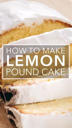 This lemon pound cake is everything a lemon lover desiresa tart lemon pucker punch with just enough sweetness to soften the blow! The post Lemon Pound Cake appeared first on Win Dessert. Pound Cake Recipes, Easy Cake Recipes, Baking Recipes, Lemon Pound Cakes, Lemon Ricotta Cake, Lemon Loaf Cake, Lemon Bread, Cheesecake Recipes, Cupcake Recipes