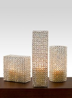 Square round oblong nickel glass crystal pillar candle holder romantic wedding reception light bar restaurant lounge decor home accents sparkle glitzy