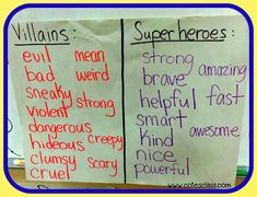 Super Hero Writing WEEK!