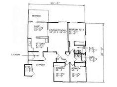 Navy Region Hawaii – Manana Navy Neighborhood: 3 bedroom home floor plan.