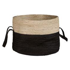Panier en fibre végétale noire
