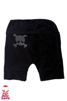 black skull baby pants