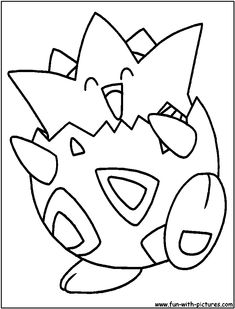 Coloring Pages Pokemon - Togepi - Drawings Pokemon | 309x236
