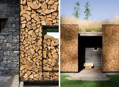 Store your wood while adding design character to your home! Stone Creek Camp | Andersson-Wise Architects