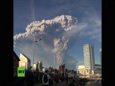 Impresionantes Imágenes De La Erupción De Volcán En Chile #Video