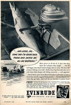 1944 Evinrude Outboard Motors WWII Advertising Popular Science August 1944 | Flickr - Photo Sharing!