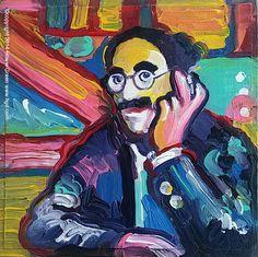 Groucho Marx Pop Art Portrait by Howie Green www.hgd.com