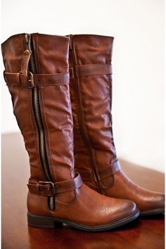 Brown boots.  Mid calf to knee high, something warm and comfortable with a low/minimal heel.  The ones I have are falling apart.  For styles I like, see http://www.pinterest.com/nettmahoney/kicks/