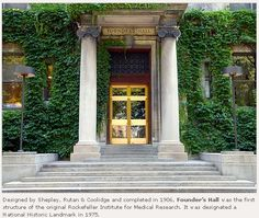Entering the campus of Rockefeller University was like entering another world. This is Founder's Hall,1230 York Avenue at 66th St.