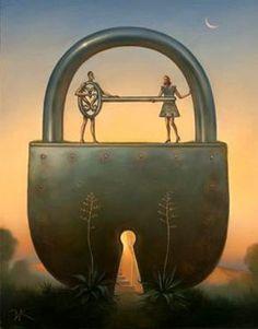 Vladimir Kush: Key of Love - Pictify - your social art network Vladimir Kush, Salvador Dali, The Ocean, Surreal Artwork, Magic Realism, Surrealism Painting, Rene Magritte, Online Painting, Cool Paintings
