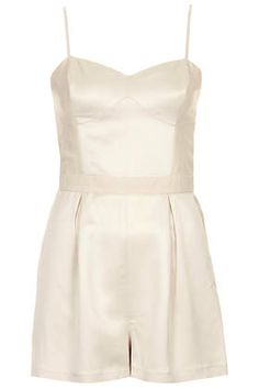 Satin Panel Playsuit - New In This Week  - New In topshop
