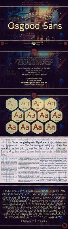 Osgood Sans. Sans Serif Fonts. $12.00
