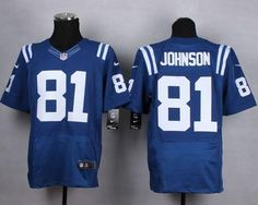 """$23.88 at """"MaryJersey""""(maryjerseyelway@gmail.com) Nike Colts 81 Andre Johnson Royal Blue Team Color Men Stitched NFL Elite Jersey"""