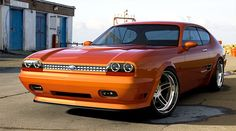 Concept ford Capri in Orange. Rather interesting. May consider this for my own development