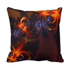 Eyes & Swirls - Amber & Indigo Delight Pillows $32.95